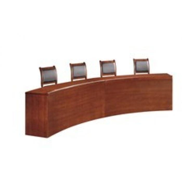 弧形条桌_特制家具_其他商用家具