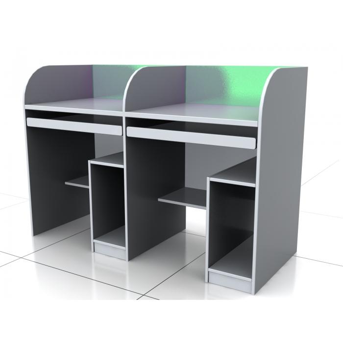 木制双人电脑桌