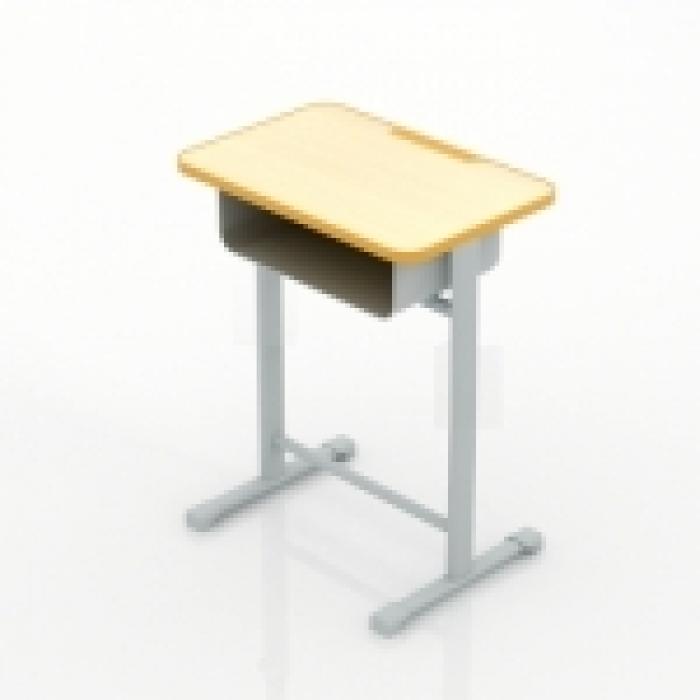 上色的课桌简笔画