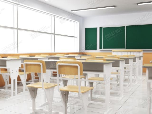 教室场景桌椅简笔画